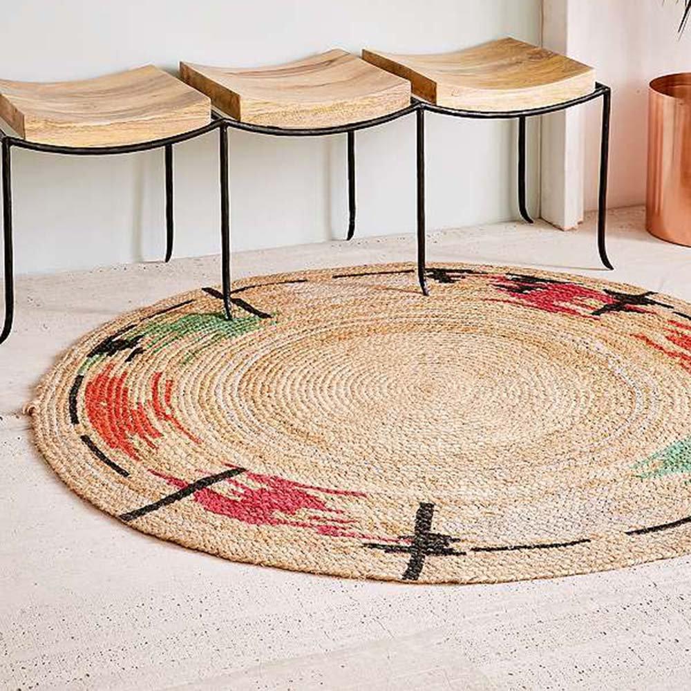 tapis rond en raphia maison parallele. Black Bedroom Furniture Sets. Home Design Ideas