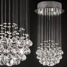 Lustre suspension cristal