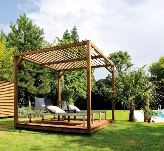 tonnelle de jardin en bois pas cher maison parallele. Black Bedroom Furniture Sets. Home Design Ideas