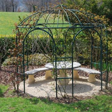Pergola acier jardin - maison parallele