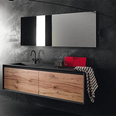 Meuble salle bain bois