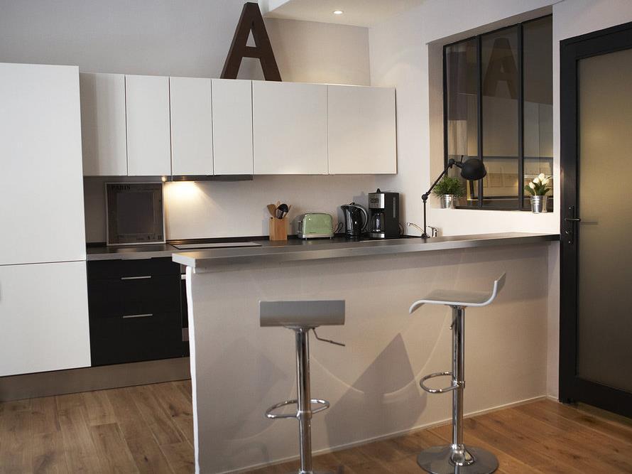 Bar separation cuisine - maison parallele