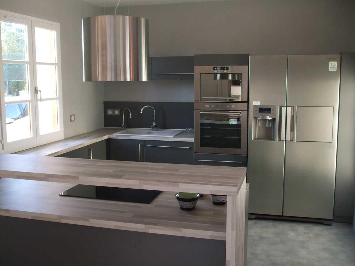 Deco cuisine salon 30m2 maison parallele - Plan petite cuisine ouverte ...