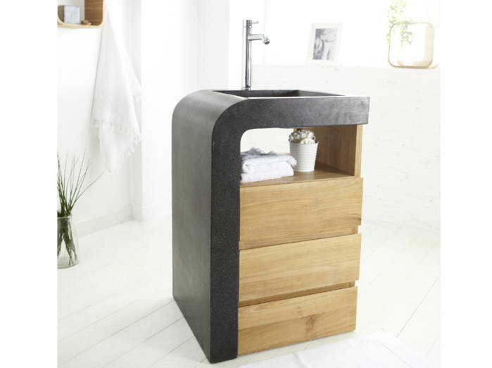 petit meuble avec vasque salle de bain maison parallele. Black Bedroom Furniture Sets. Home Design Ideas