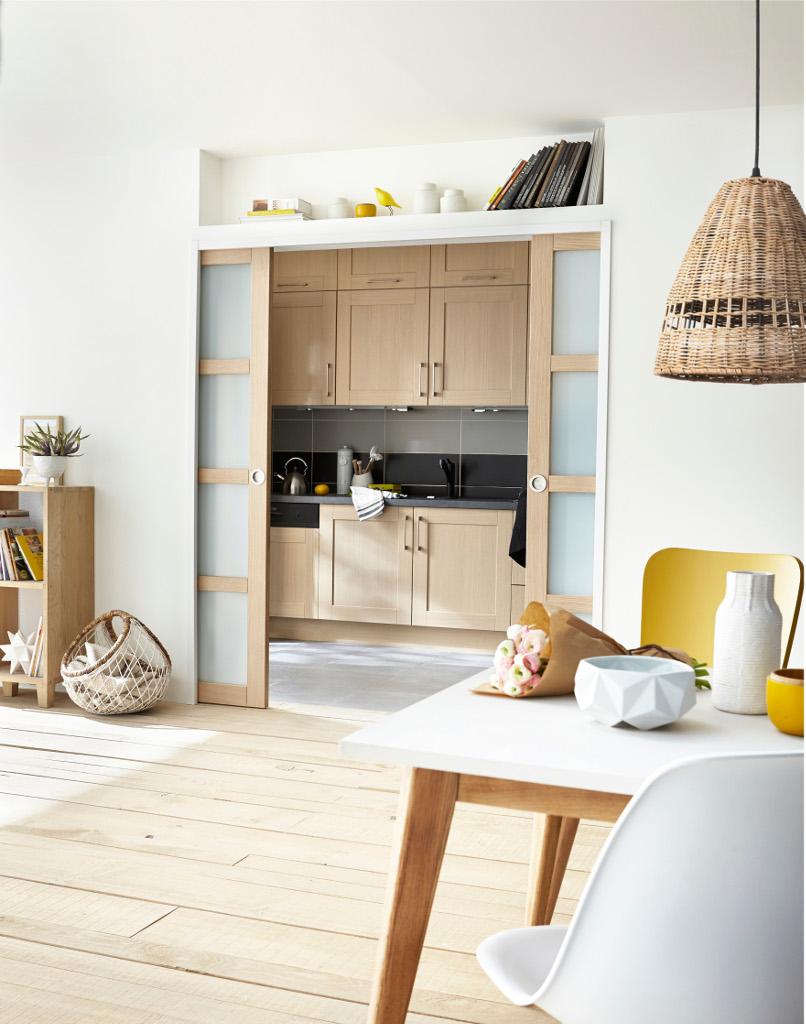 cuisine ouverte refermable maison parallele. Black Bedroom Furniture Sets. Home Design Ideas