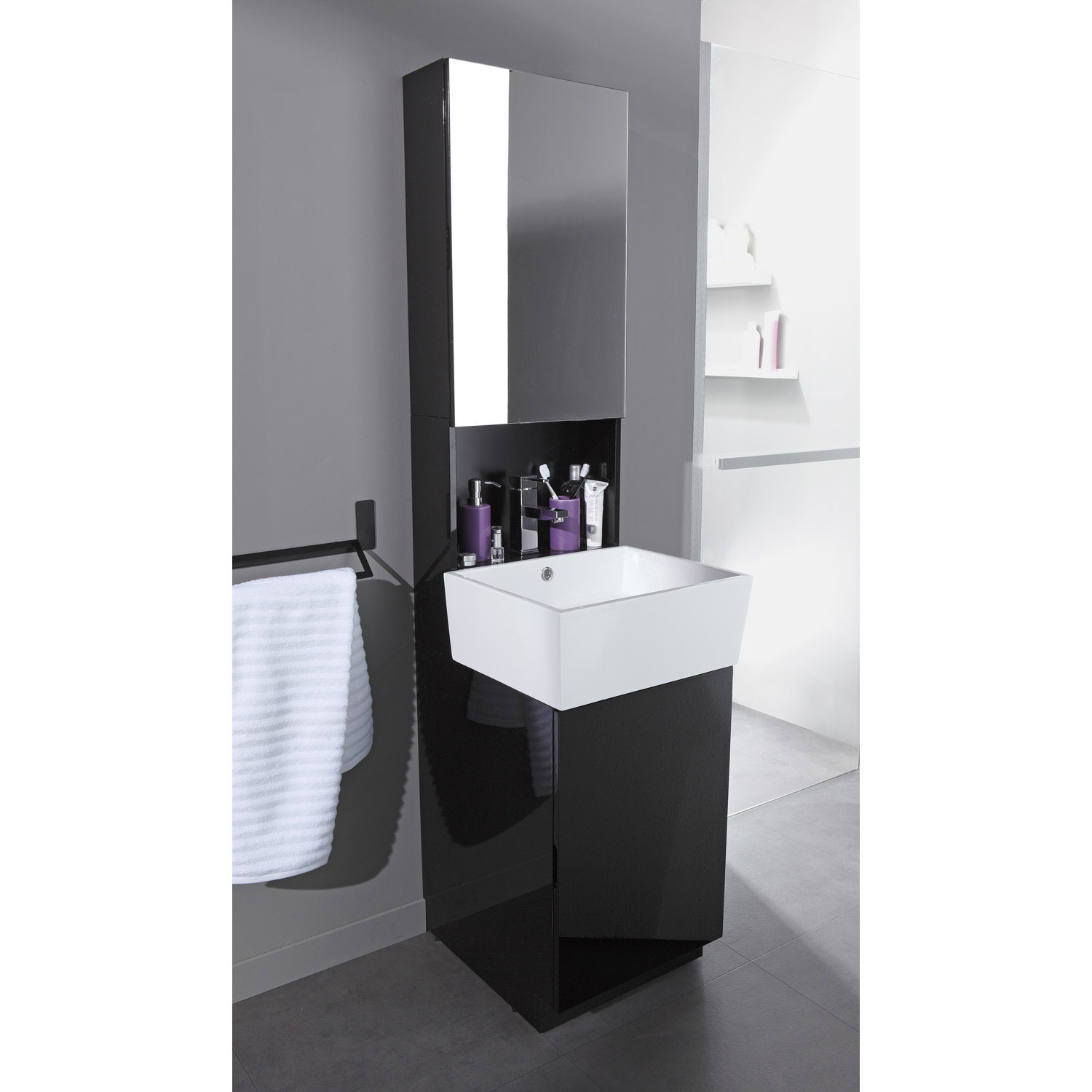 petit meuble de salle de bain avec vasque maison parallele. Black Bedroom Furniture Sets. Home Design Ideas