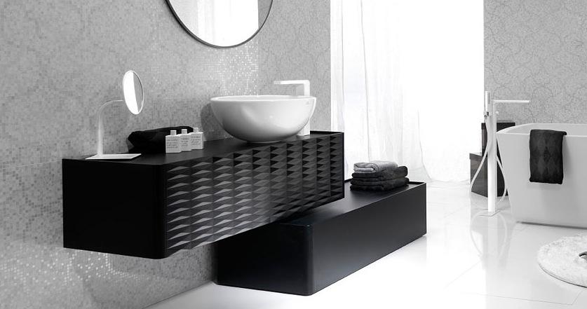 Salle de bain design noir