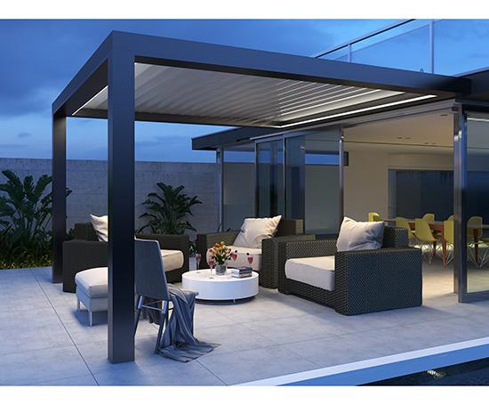 pergola aluminium pour terrasse maison parallele. Black Bedroom Furniture Sets. Home Design Ideas