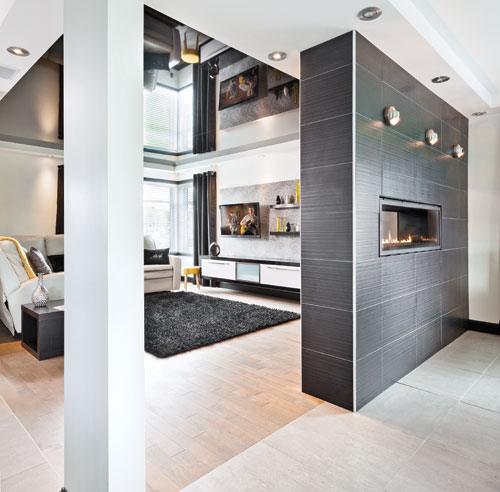 Separation entre cuisine et salon maison parallele - Meuble separation cuisine sejour ...