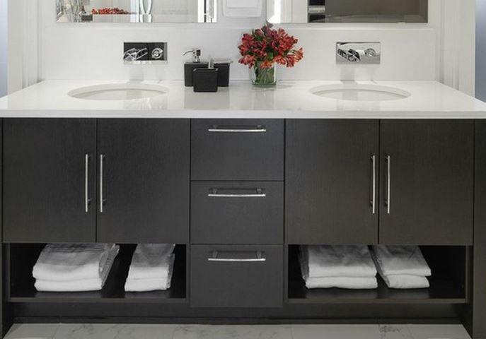 Meuble de salle de bain double vasque design