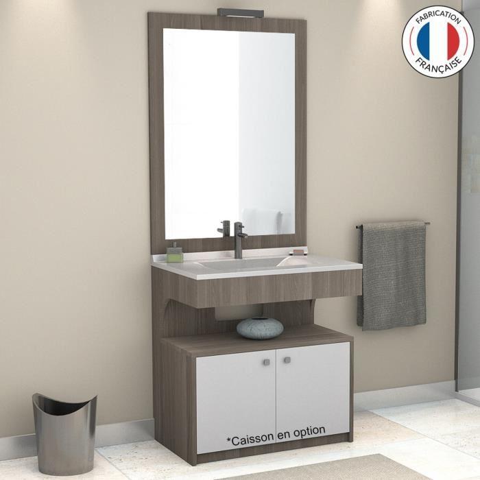 Meuble vasque salle de bain avec miroir