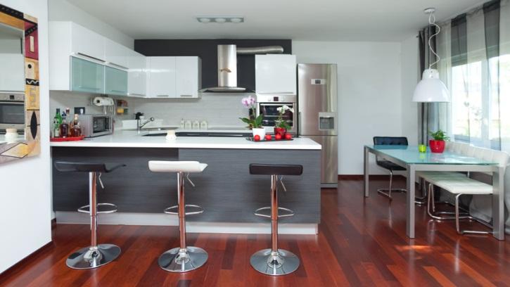 deco cuisine salon 30m2 maison parallele. Black Bedroom Furniture Sets. Home Design Ideas