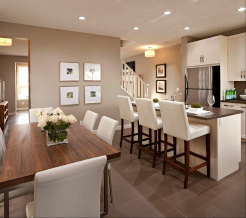 Amenagement cuisine ouverte avec salle a manger - maison parallele