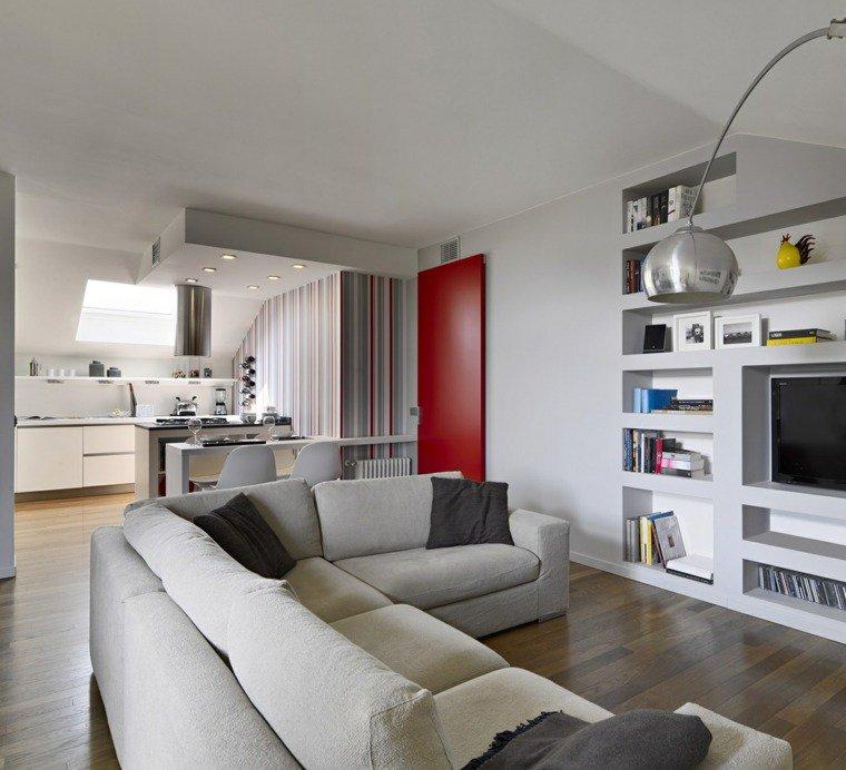 Cuisine ouverte salon petit espace maison parallele - Amenagement cuisine salon ...