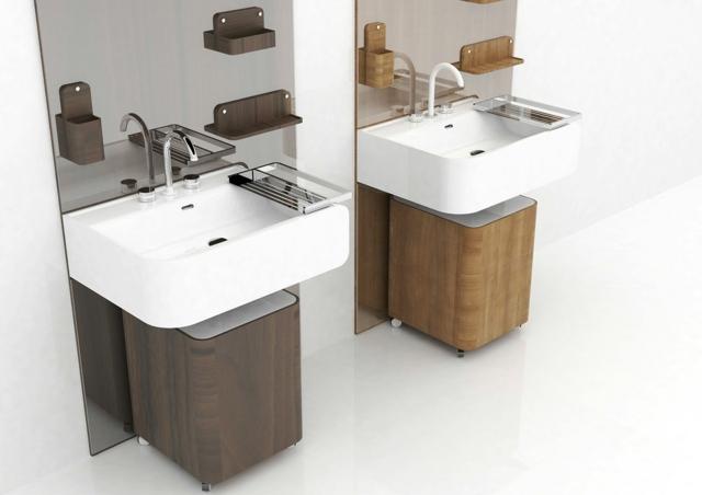 Petit meuble lavabo salle de bain