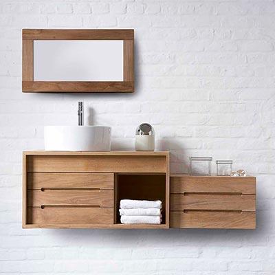 Armoire de salle de bain bois