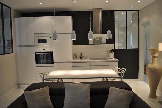 Appartement cuisine ouverte maison parallele - Cuisine moderne ouverte sur salon ...