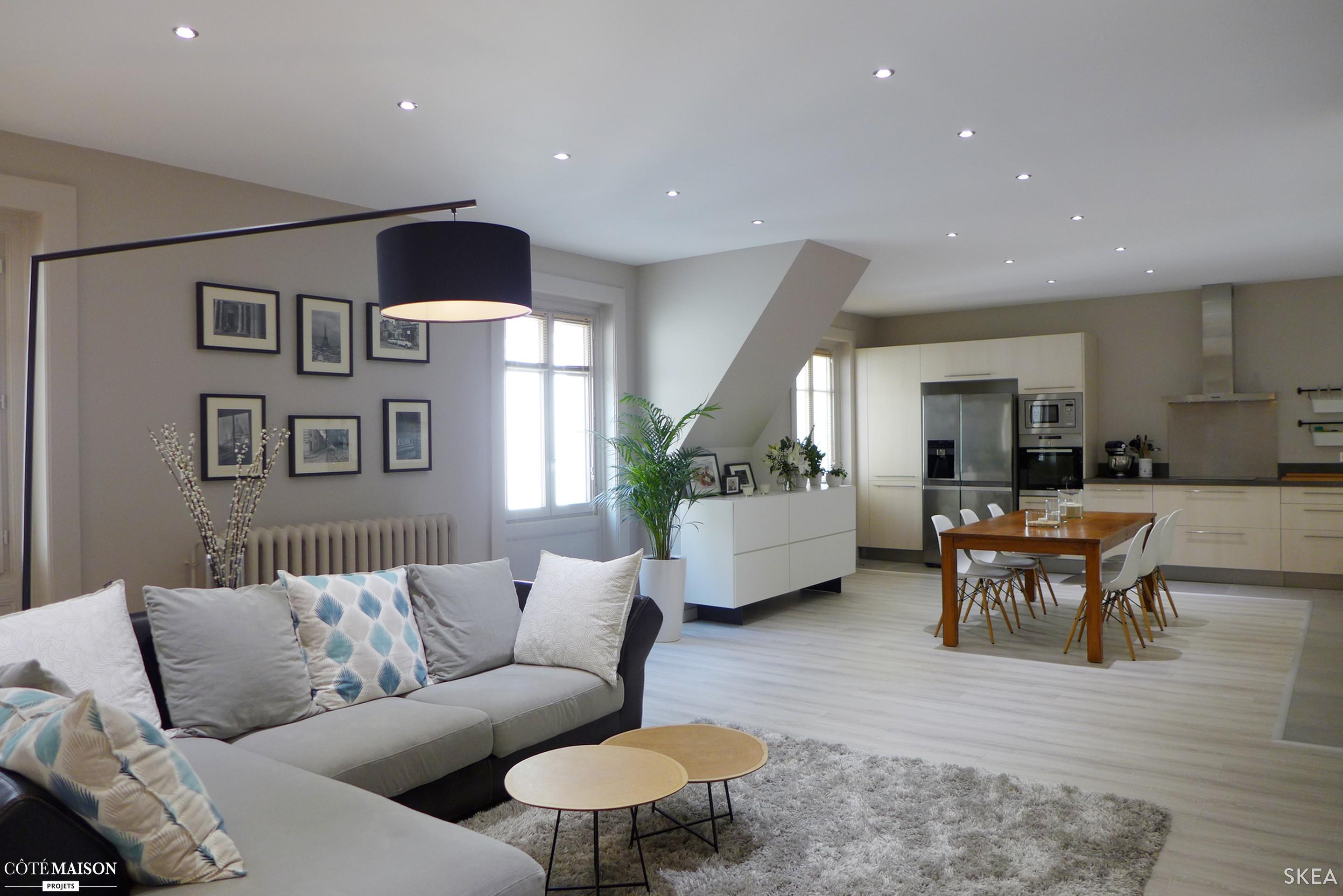 Cuisine ouverte refermable maison parallele - Deco salon et cuisine ouverte ...