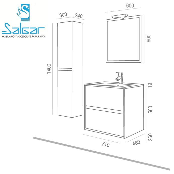 Dimension meuble sdb