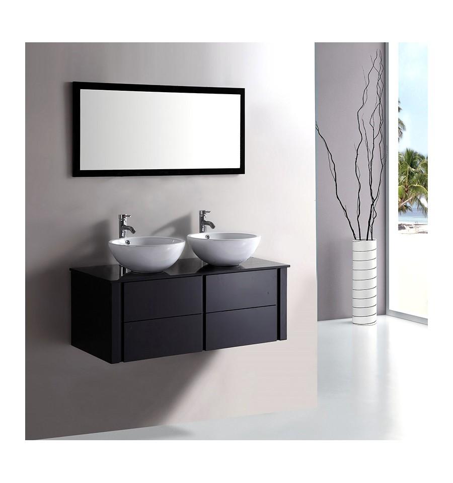 Armoire salle de bain noir
