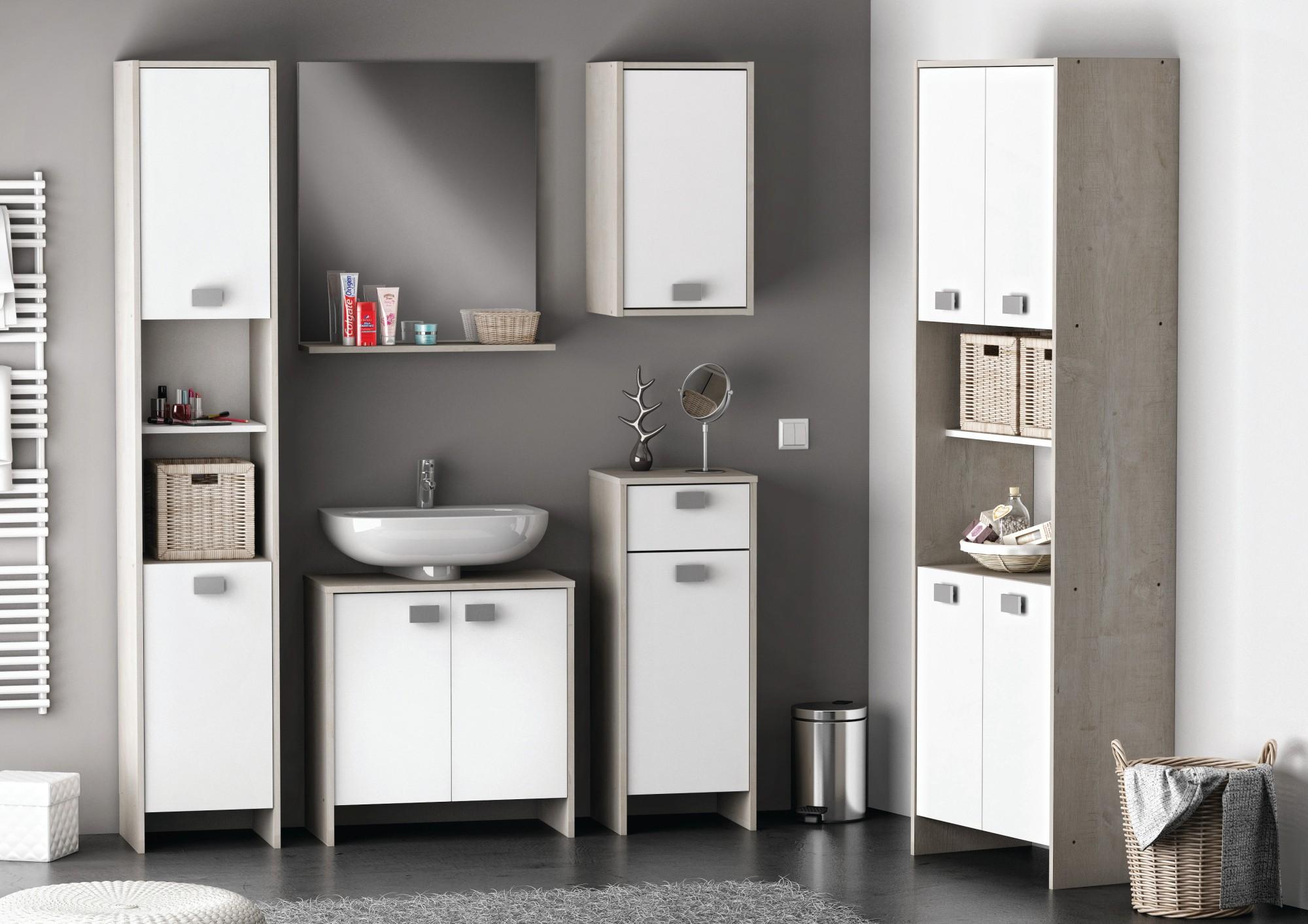 Meuble de salle de bain sous lavabo avec colonne maison - Meuble salle de bain avec lavabo ...