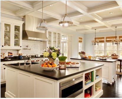 Decoration intérieure cuisine americaine - maison parallele