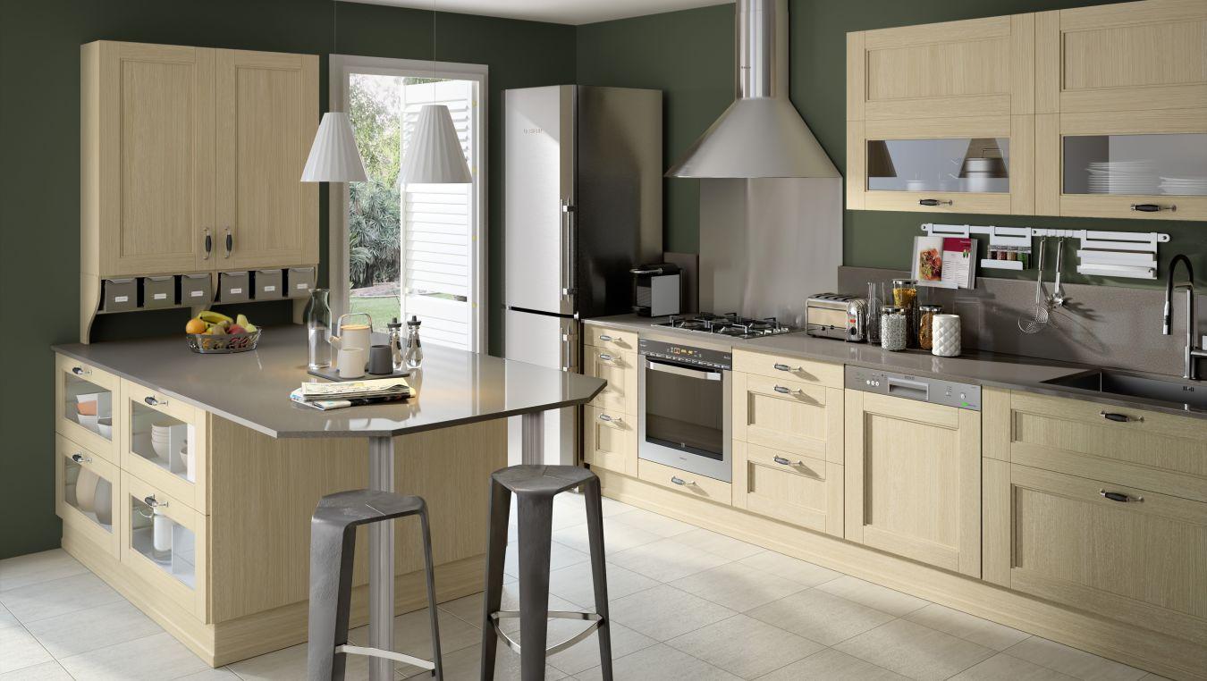 exemple de cuisine ouverte sur salon maison parallele. Black Bedroom Furniture Sets. Home Design Ideas
