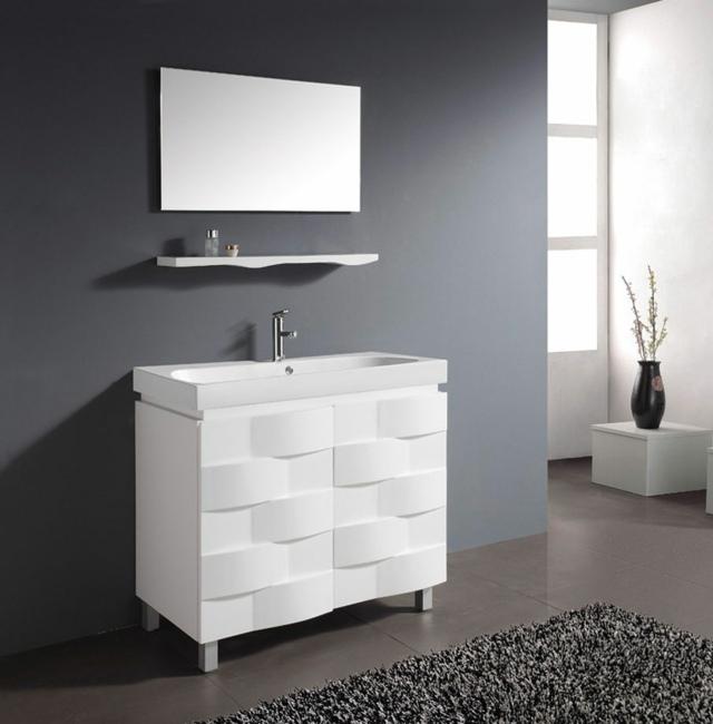 Meuble salle de bain blanc design