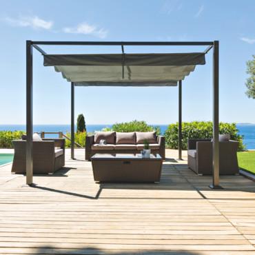 tonnelle en fer forg pas cher maison parallele. Black Bedroom Furniture Sets. Home Design Ideas