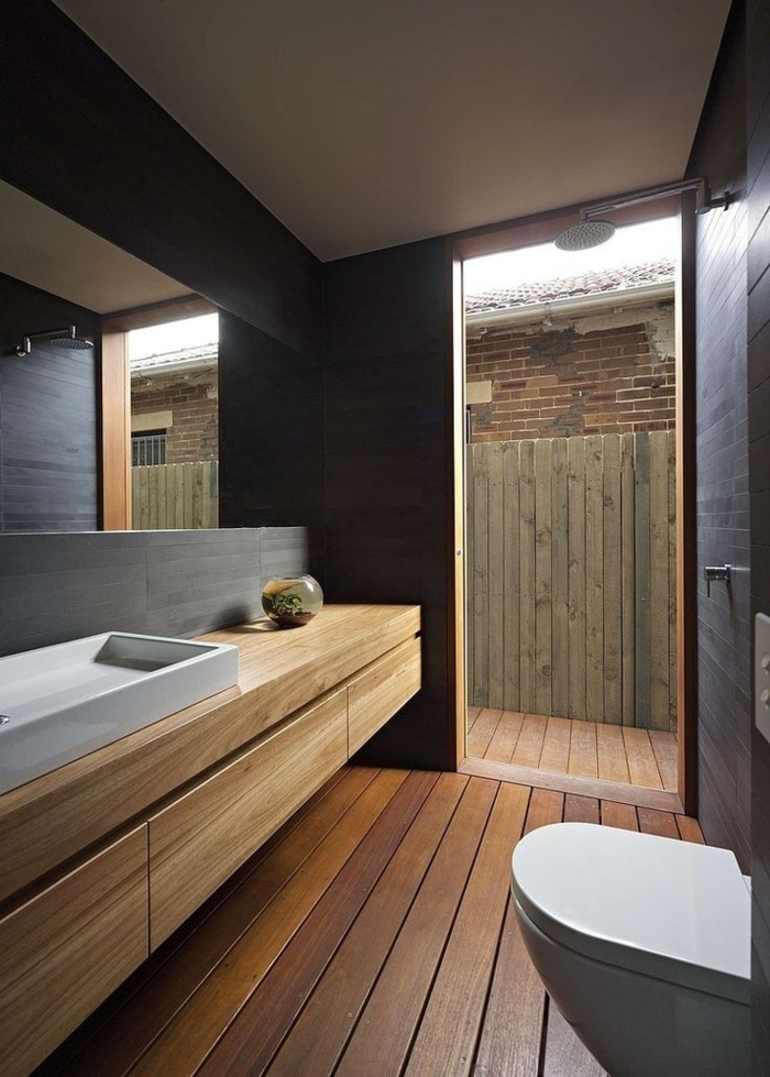 Salle de bain design bois