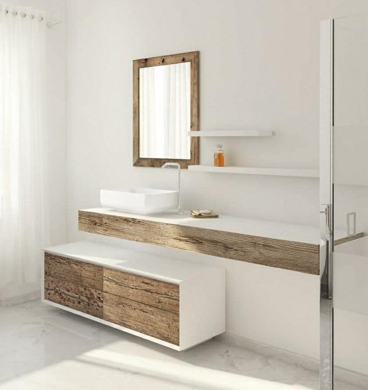 Meuble bois pour salle de bain