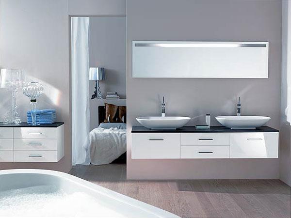 Meuble contemporain salle de bain