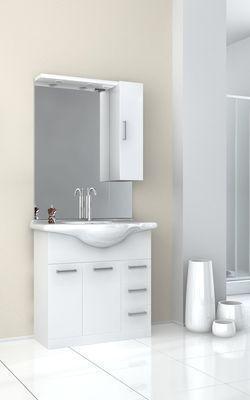 Ensemble meuble vasque miroir salle de bain