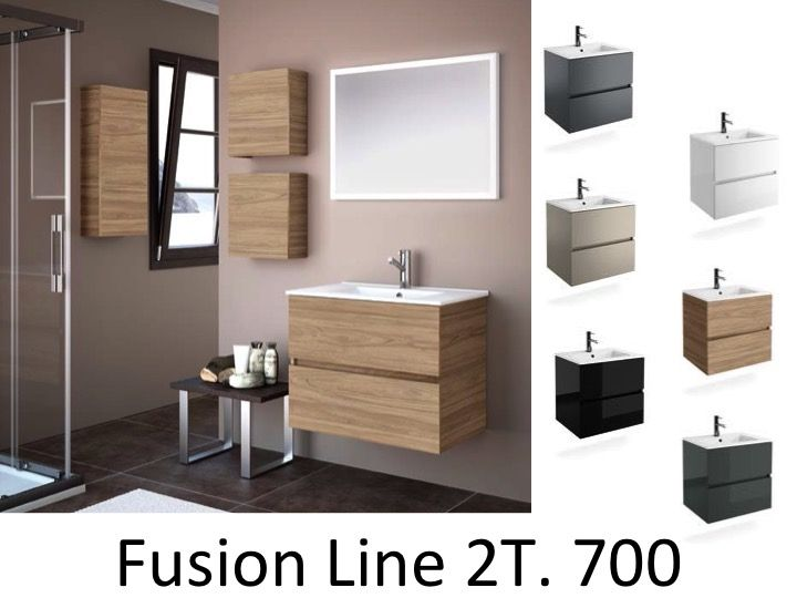 Meuble salle de bain 70 cm maison parallele - Meuble salle de bain 70 cm largeur ...