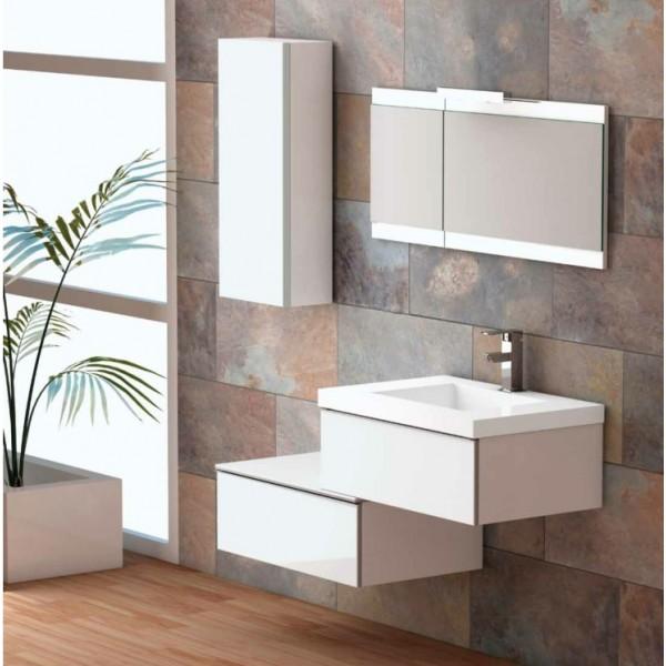Petit meuble salle de bain a suspendre maison parallele - Petit meuble vasque salle de bain ...