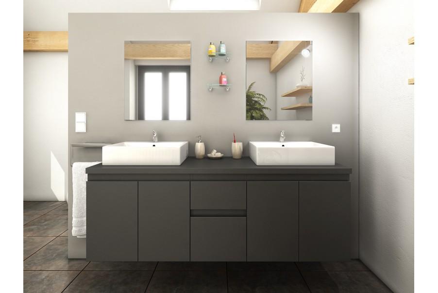 Meuble salle de bain gris pas cher