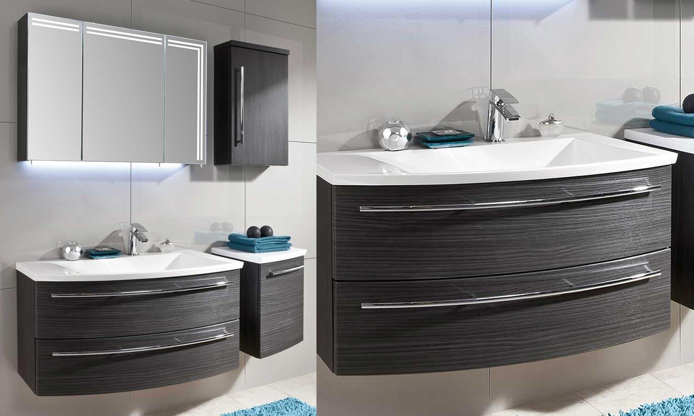 Meuble salle de bain arrondi pas cher maison parallele - Armoire de salle de bain pas cher ...