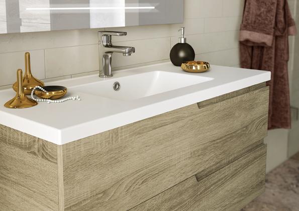 Meuble salle de bain 100 cm maison parallele - Meuble de salle de bain en 100 cm ...