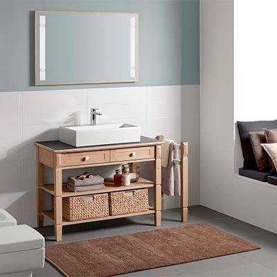 Salle de bain meuble bois