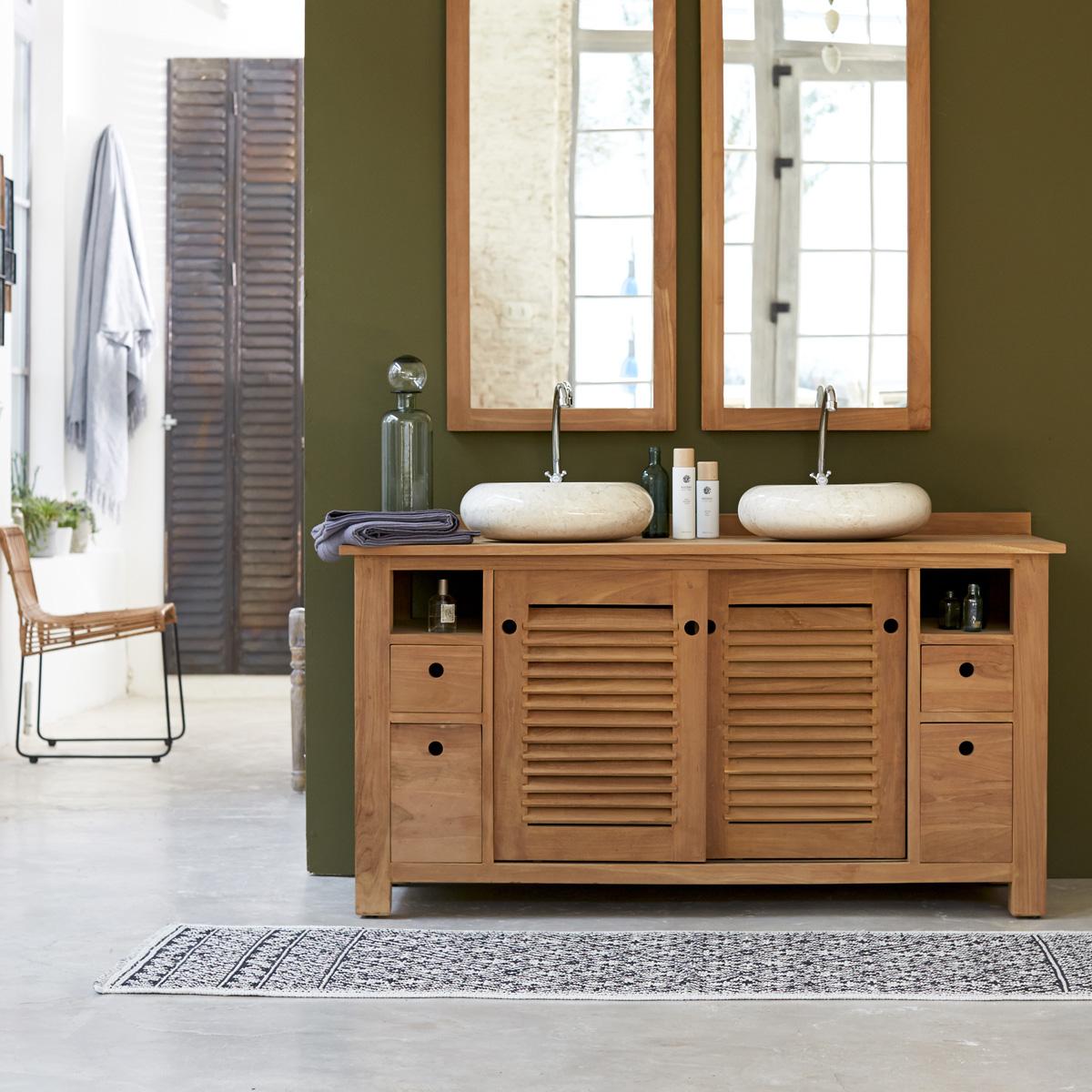Meuble salle de bain bambou