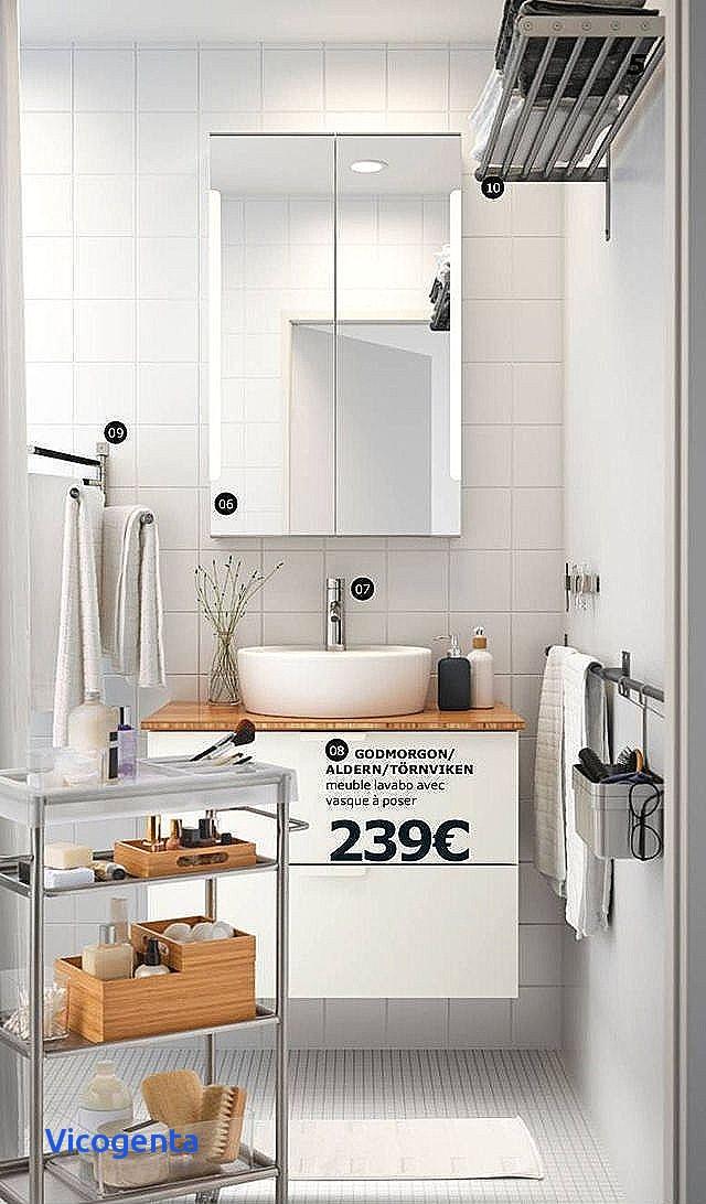 Meuble salle de bain bois et blanc - maison parallele