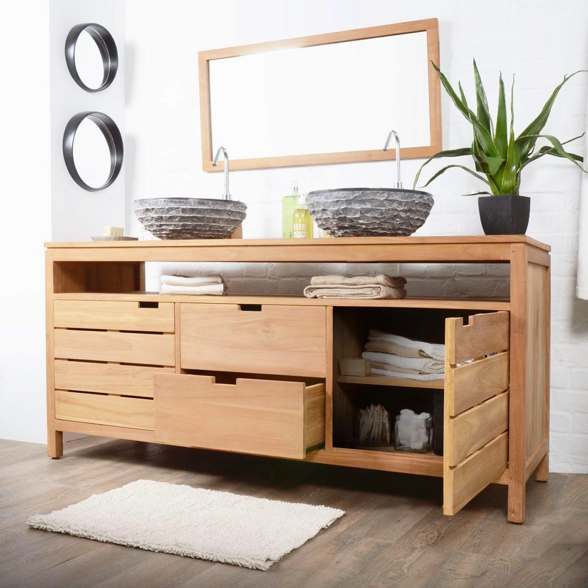 Salle de bain meuble en bois