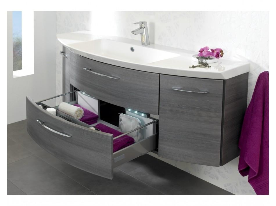meuble de salle de bain arrondi double vasque maison. Black Bedroom Furniture Sets. Home Design Ideas