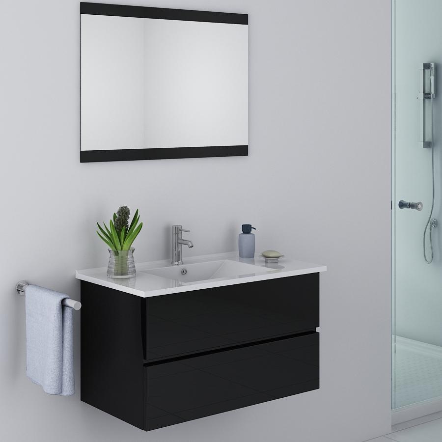 Meuble design salle de bain pas cher maison parallele - Mobilier de salle de bain pas cher ...