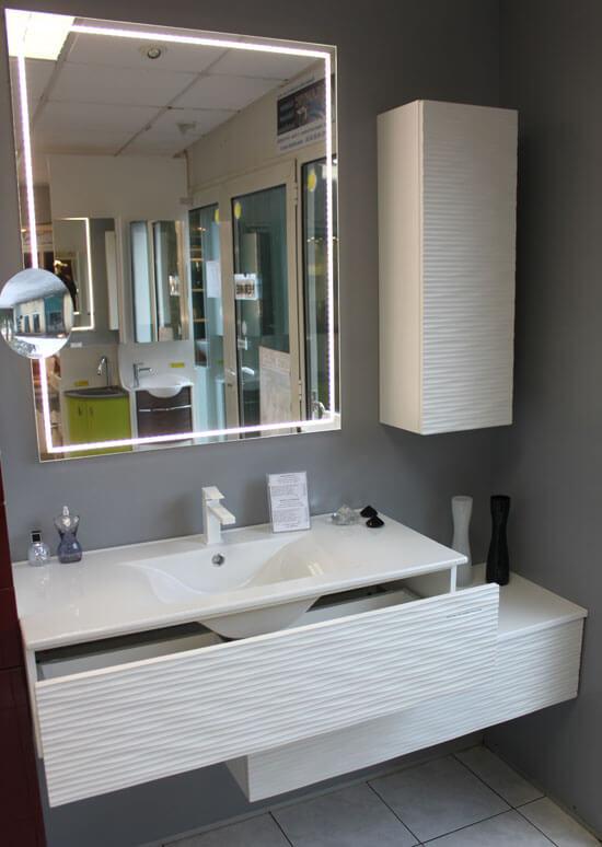 Meuble Salle De Bain Design Blanc Maison Parallele