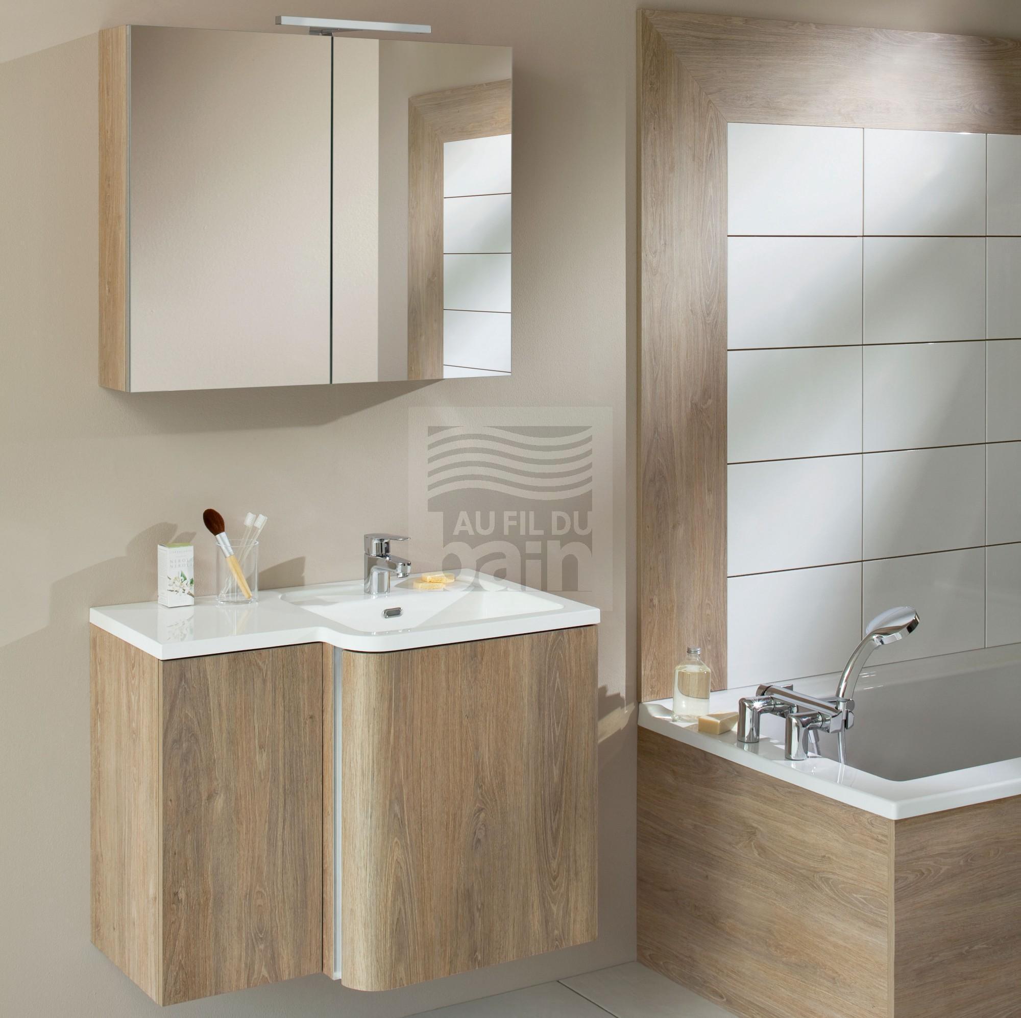 Vasque avec meuble salle de bain - maison parallele
