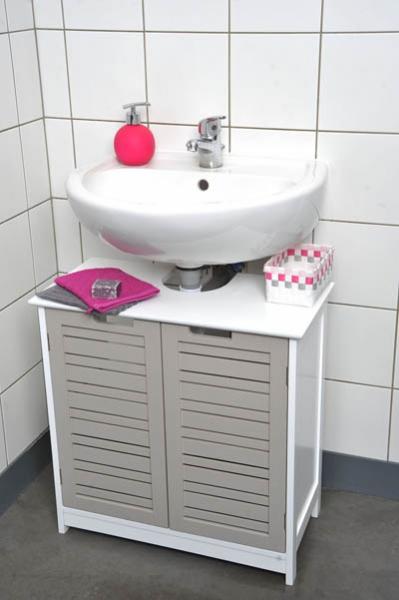Meuble sous lavabo colonne salle bain - maison parallele