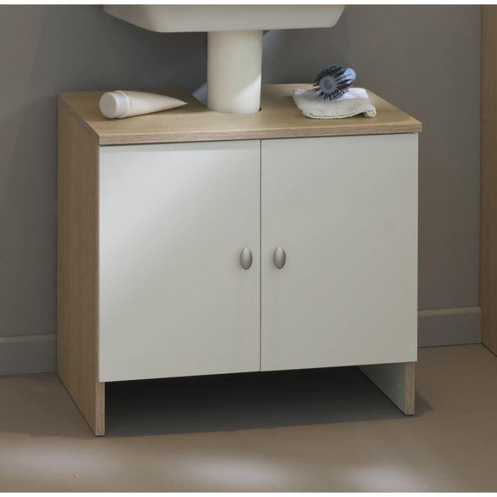 Meuble de salle de bain pour lavabo avec colonne