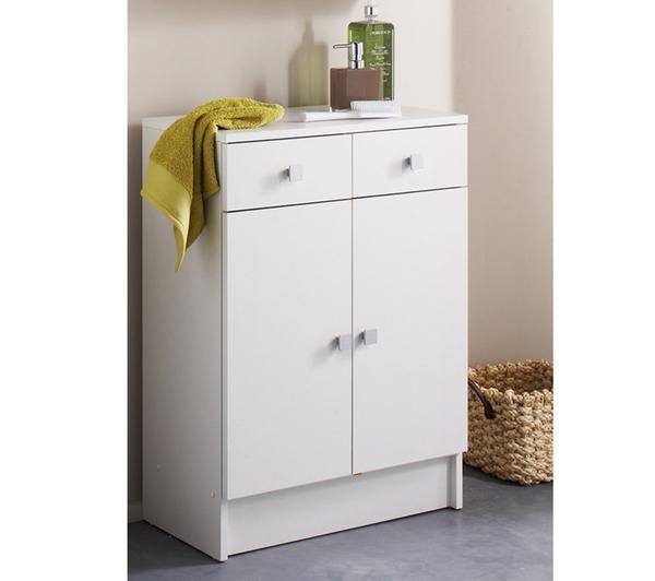 meuble bas salle de bain blanc maison parallele. Black Bedroom Furniture Sets. Home Design Ideas