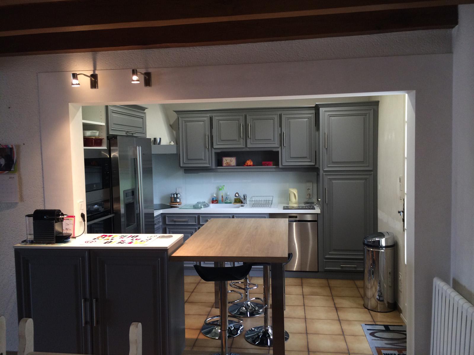 Ouverture de cuisine sur salon